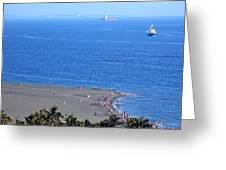 Beach And Ocean On Chijin Island Greeting Card
