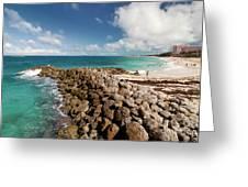 Beach At Atlantis Resort Greeting Card