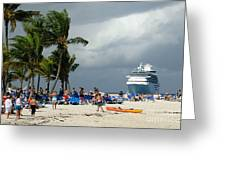 Beach At Coco Cay Greeting Card