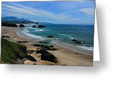 Beach At Ecola State Park Greeting Card