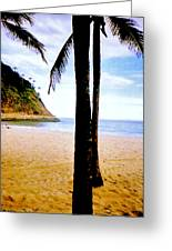 Beach At Ipanema - 2 Greeting Card