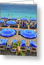 Beach At Nice France Greeting Card