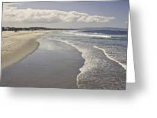 Beach At Santa Monica Greeting Card