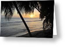 Beach At Sunset 4 Greeting Card