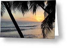 Beach At Sunset 5 Greeting Card