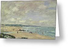 Beach At Trouville Greeting Card