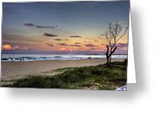 Beach At Twilight Greeting Card