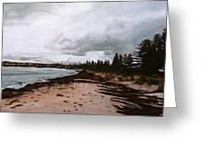 Beach At Victor Greeting Card