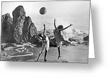 Beach Ball Dancing Greeting Card