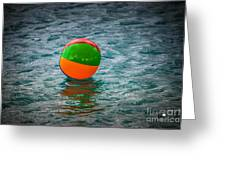Beach Ball Float Greeting Card
