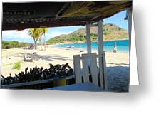 Beach Bar In January Greeting Card