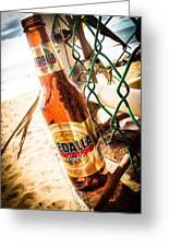 Beach Beer Greeting Card