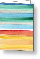 Beach Blanket- Colorful Abstract Painting Greeting Card