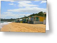 Beach Boxes Mornington Greeting Card