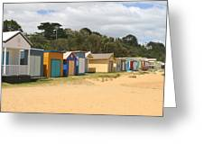 Beach Boxes Mount Martha Greeting Card by Rachael Curry