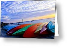 Beach Canoe Greeting Card