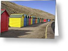 Beach Chalets - Whitby Greeting Card