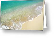 Golden Sand Beach Greeting Card
