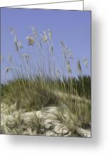 Beach Dune Pixelated Greeting Card