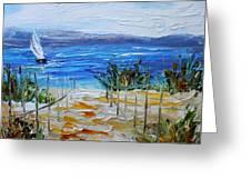 Beach Dunes Summer's End Greeting Card