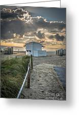 Beach Entrance To Old Glory - Hdr Style Greeting Card