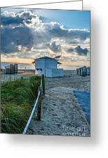 Beach Entrance To Old Glory Greeting Card