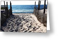 Beach Entry Greeting Card by John Rizzuto