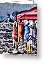 Beach Fashion Greeting Card
