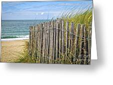 Beach Fence Greeting Card