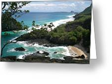 beach Fernando de Noronha Greeting Card