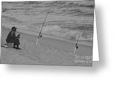 Beach Fishing Greeting Card