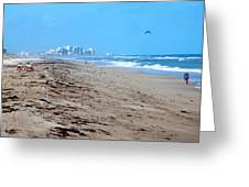 Beach Front 002 Greeting Card