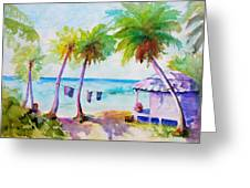Beach House Tropical Paradise Greeting Card