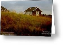 Beach House W Scripture Greeting Card