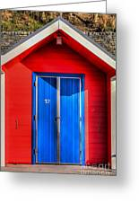 Beach Hut 12 Greeting Card
