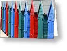 Beach Huts 2 Greeting Card