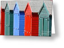 Beach Huts 3 Greeting Card