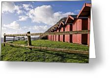 Beach Huts At Branscombe Greeting Card