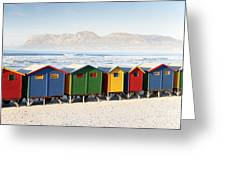 Beach Huts At Muizenberg Greeting Card