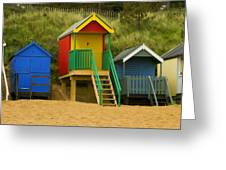 Beach Huts At Wells Next To Sea 1 Greeting Card