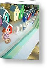 Beach Huts For Sale Greeting Card