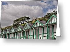 Beach Huts Langland Bay Swansea 3 Greeting Card