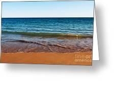 Beach In Algarve Greeting Card
