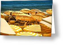 Beach In Cannes  Greeting Card