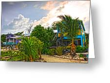 Beach In Front Of Colinda's Cabanas Greeting Card