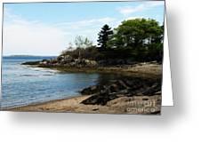 Beach In Maine Greeting Card