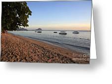 Beach In Mauritius  Greeting Card