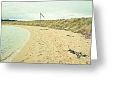 Beach In Scotland Greeting Card