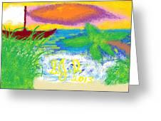 Beach Greeting Card by Joe Dillon