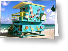 Beach Life In Miami Beach Greeting Card